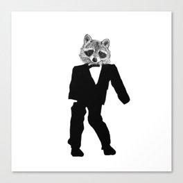 Twisted Raccoon Canvas Print