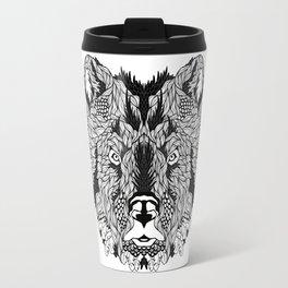 BEAR head. psychedelic / zentangle style Travel Mug