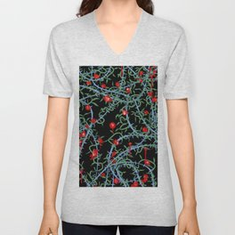 Rose with Barbed Wire Unisex V-Neck