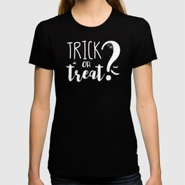 Trick Or Treat? | Black And White T-shirt