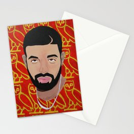 Drake Pop Portrait Stationery Cards