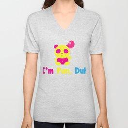 I'm Pan Duh Panda - Pansexual designs - Omnisexual prints product Unisex V-Neck
