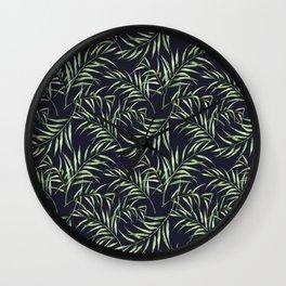 Tropical palm pattern. Watercolor Wall Clock