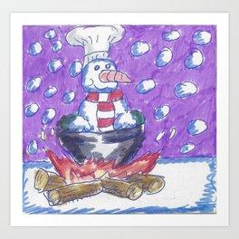 Christmas #4 Snow Cannibalism Art Print