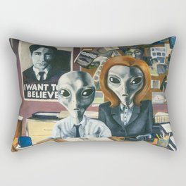 X-Files - Agent Grey Rectangular Pillow