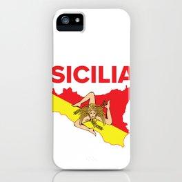 Sicilian Pride - Map of Sicily Trinacria iPhone Case