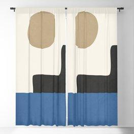 abstract minimal 30 Blackout Curtain