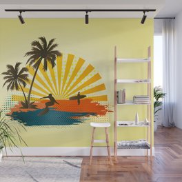 Surfers Wall Mural