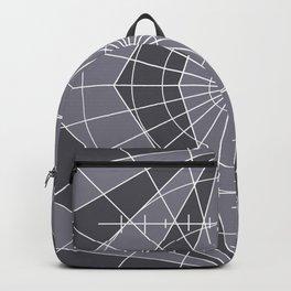 Monochrome Minimalist Geometric Lines Design Backpack