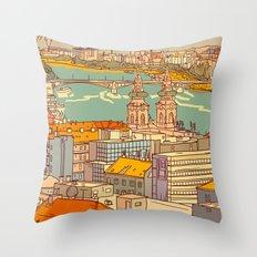 Budapest digital 2. Throw Pillow