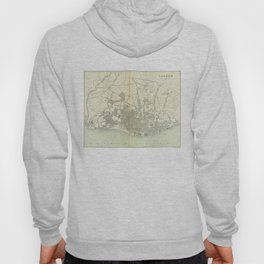 Vintage Map of Lisbon Portugal (1895) Hoody
