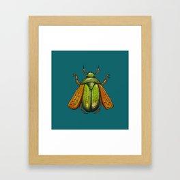 Beetle Wings Framed Art Print