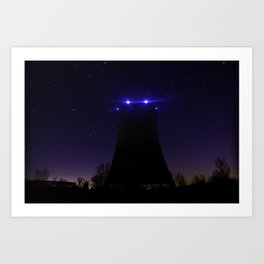 Nuclear Cooling Tower Art Print