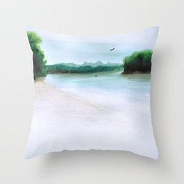 The Middl Grounds Throw Pillow
