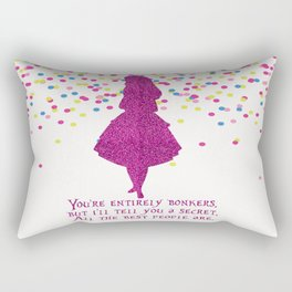 Pink glitter and confetti bonkers Rectangular Pillow