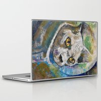 space cat Laptop & iPad Skins featuring Space Cat by Michael Creese