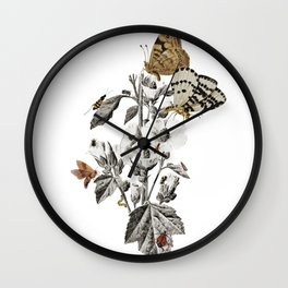 Insect Toile Wall Clock