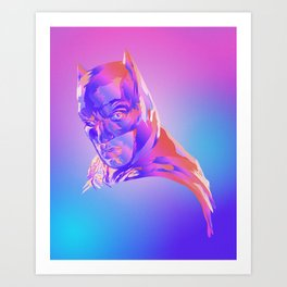 Bat man, Justice League Art Print