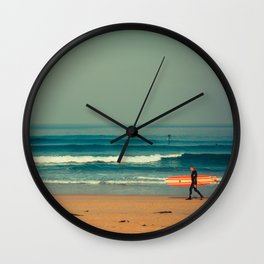 Gunnamatta Red Surf Wall Clock