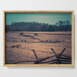 View of Antietam National Battlefield Civil War Battleground Maryland Serving Tray