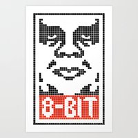 8 bit Art Prints featuring 8-Bit by tshirtsz