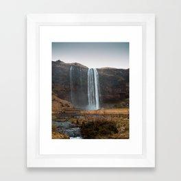 Seljalandsfoss Waterfall, Iceland Framed Art Print