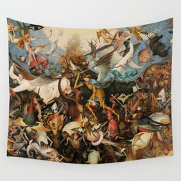 The Fall of the Rebel Angels, 1562 by Pieter Bruegel the Elder Wall Tapestry
