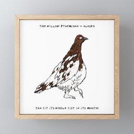 Willow Ptarmigan – State Bird of Alaska Framed Mini Art Print