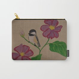 Chickadee & Flowers Carry-All Pouch