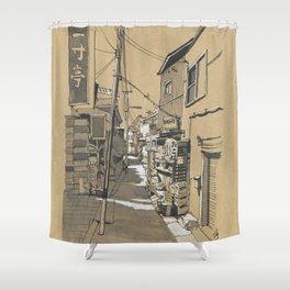 Tokyo Alley Shower Curtain