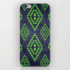 Navy & Lime tribal inspired print iPhone & iPod Skin
