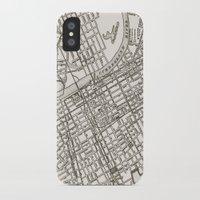 nashville iPhone & iPod Cases featuring Nashville Map by Zeke Tucker