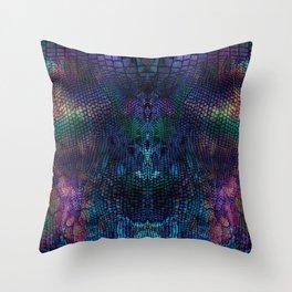 Violet snake skin pattern Throw Pillow