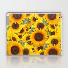 DECORATIVE WESTERN YELLOW SUNFLOWERS FIELDS Laptop & iPad Skin