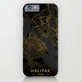 Halifax, Canada - Gold iPhone Case