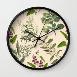 HERB GARDEN & CHAMPAGNE  Wall Clock