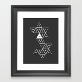 Unrolled D20 Framed Art Print