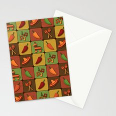 Mexican Squares Stationery Cards