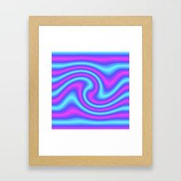 Blue Violet Twist Framed Art Print