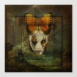 Surrealistic Venetian Mask Canvas Print