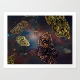 Weed in Space Art Print