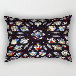 Stained glass sainte chapelle gothic Rectangular Pillow