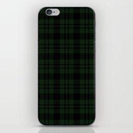 Plaid (Dark green) iPhone Skin