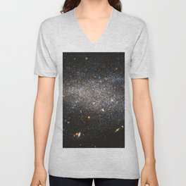 s Hubble image shows NGC 4789A, a dwarf irregular galaxy in the constellation of Coma Berenices Unisex V-Neck