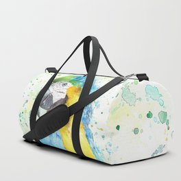 "Watercolor Painting of Picture ""Macaw"" Duffle Bag"