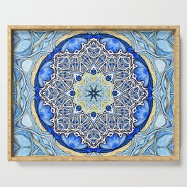 Blue Mandala Serving Tray