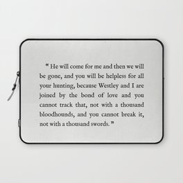 """Book Page - The Princess Bride """"The Bond of Love"""" Quote Laptop Sleeve"""