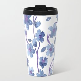Blue Flowers 4 Travel Mug