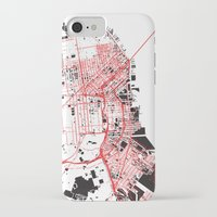 san francisco map iPhone & iPod Cases featuring San Francisco Noise Map by ARTITECTURE