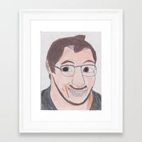 markiplier Framed Art Prints featuring Markiplier by pokelayfe